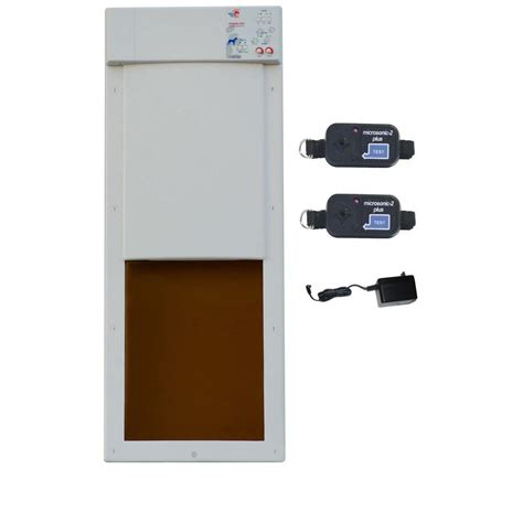 Automatic Pet Door by High Tech Pet 12 In X 16 In Electronic Fully Automatic Door Deluxpak With Free Additional