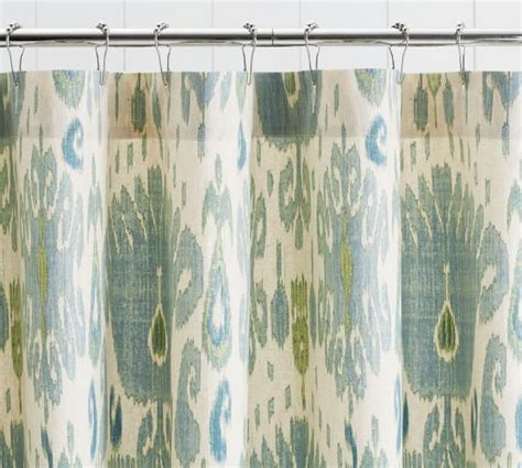 ikat curtains ikat shower curtain pottery barn