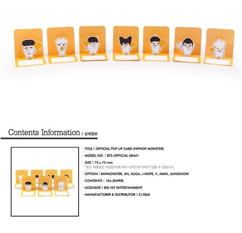 Bts Hiphop Pop Up Card yesasia image gallery bts hip hop goods pop