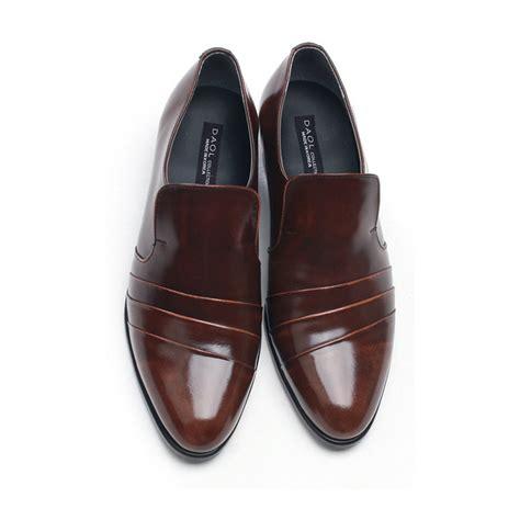 mens diagonal wrinkles loafers