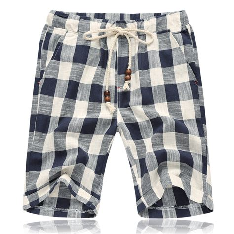 Trend Worth Trying Plaid Shorts by Aliexpress Buy New Fashion Mens Linen Shorts 2017