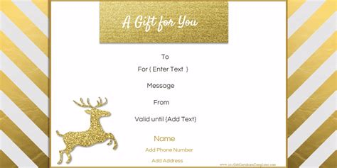 diy gift card templates free editable gift certificate template 23 designs