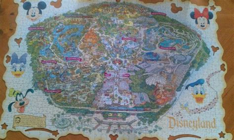 disneyland decorative border puzzle map close close
