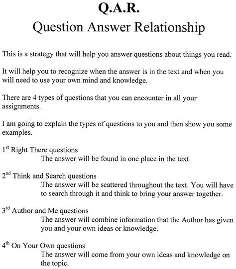 7 Relationship Questions Answered by Question Answer Relationship Worksheet Www Pixshark