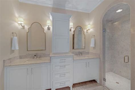 arched shower entrance glass door transitional