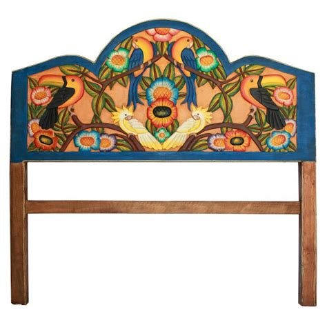 Carved Collection Tropical Birdscarved Headboard Ch03