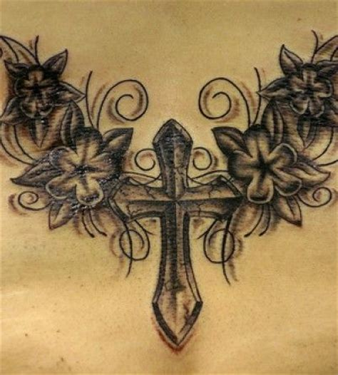 cross and flower tattoo cross tattoos possibly with different flowers cross