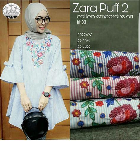 Atasan Zara Puff baju atasan wanita tunik blouse cantik model terbaru