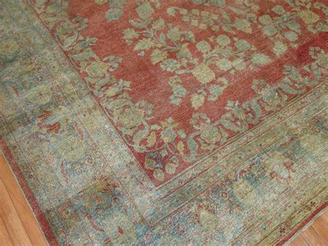 shabby chic persian sarouk carpet for sale at 1stdibs