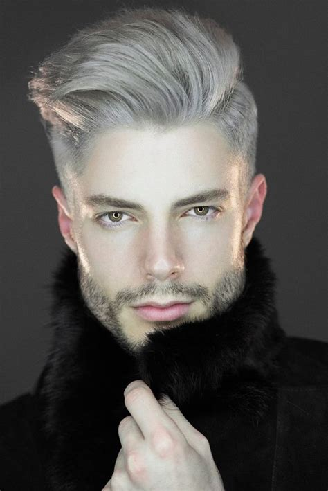 Trend Gray Platinum Hair Men | latest hair trend grey hair pearl white for men women
