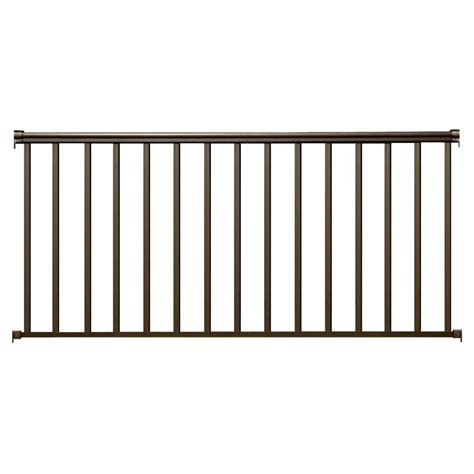 home depot banister rails ez handrail 6 ft x 42 in bronze aluminum baluster