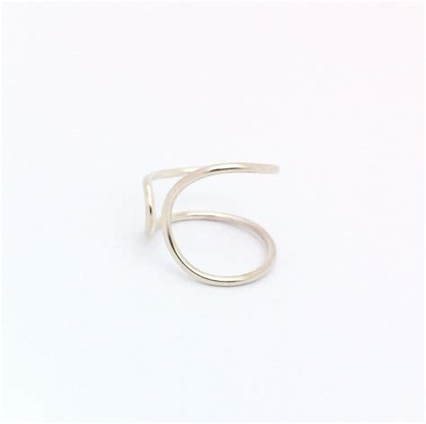 Handcrafted Silver Jewellery - crafted simple silver contemporary curved ring