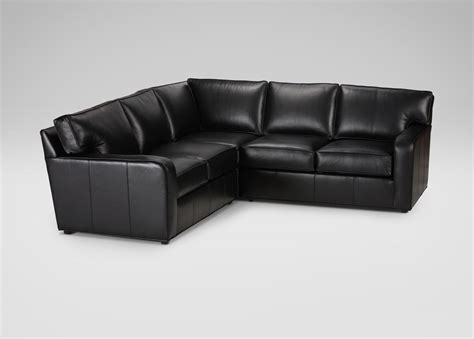 ethan allen retreat sofa retreat track arm leather sectional sectionals
