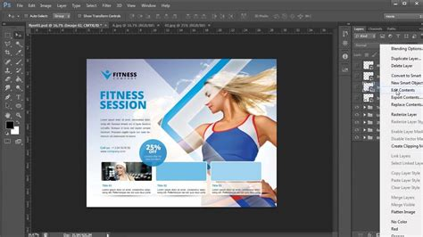 Business Flyer Template Photoshop Tutorial Youtube Photoshop Flyer Templates Business