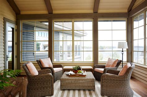 3 season porch furniture a sophisticated lake house with a subtle palette home