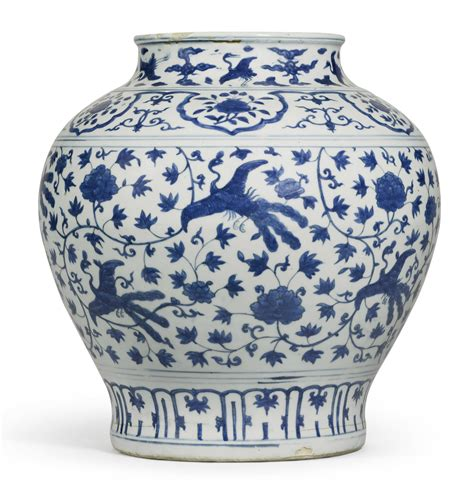 What Is A Ming Vase by A Blue And White Lotus And Peacock Vase Ming Dynasty