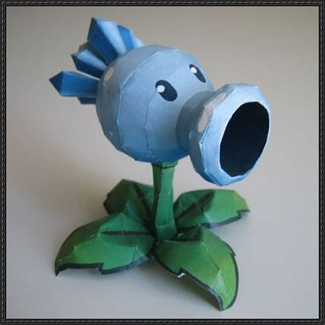 Plants Vs Zombies Paper Crafts - new paper craft plants vs zombies snow pea free