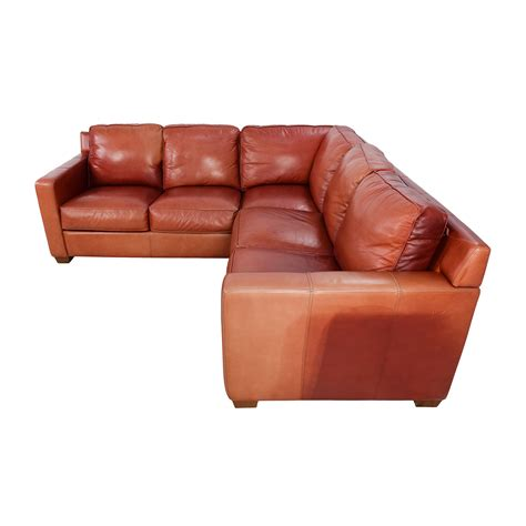 used leather sofa prices 68 off thomasville thomasville red leather sectional