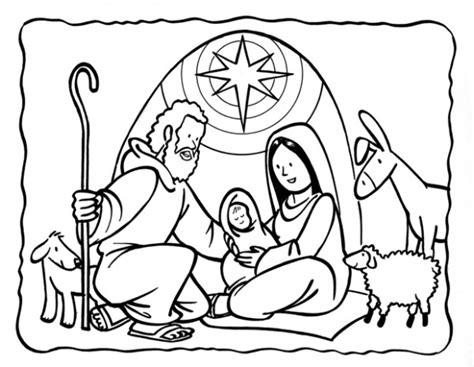 dibujos de navidad para colorear del nacimiento de jesus dibujos de pesebres navide 241 os para colorear belenes