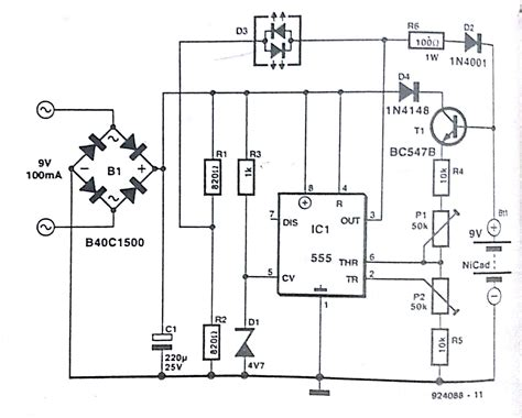 battery charger schematic automatic nicd battery charger circuit diagram