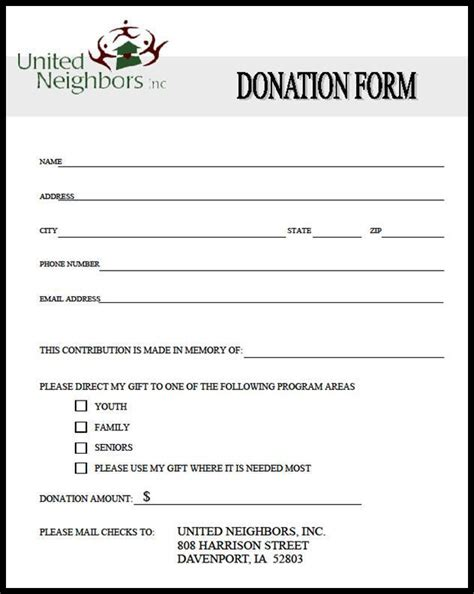 36 Free Donation Form Templates In Word Excel Pdf Sponsor List Template