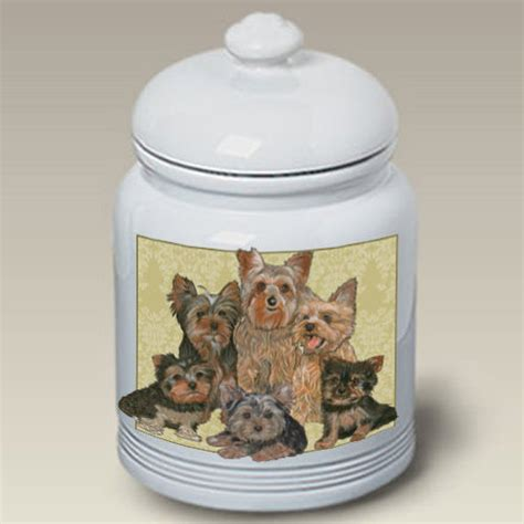 yorkie cookie jar yorkie treat jar shop collectibles daily