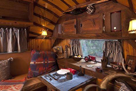 Rustic Leather Armchair 1961 Airstream Bambi 16 Arizona