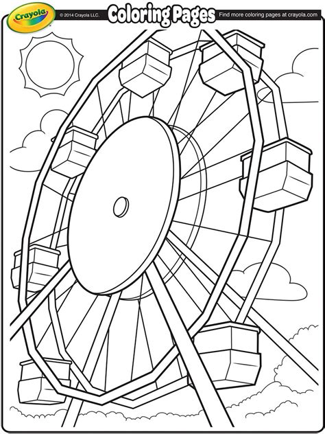 fair rides coloring pages www imgkid com the image kid