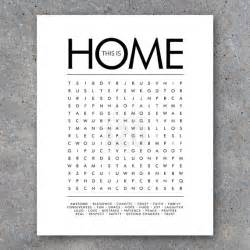 This is home word search modern wall art printable digital file