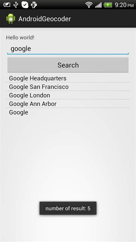 Name To Address Search Android Er Search Address By Name With Geocoder