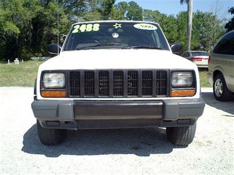 mail jeep cherokee purchase used 2000 white jeep cherokee factory made right