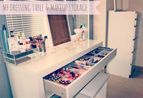 beauty blogger vanity table suggestions my makeup storage ikea malm dressing table couturegirl a fashion lifestyle