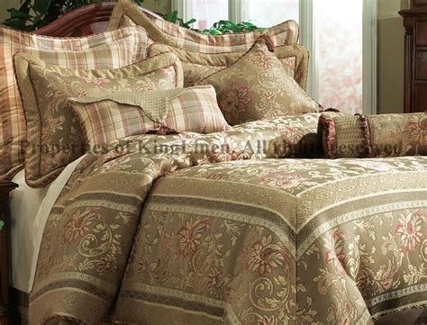 olive comforter 7pcs cal king olive regal comforter set bed in a bag ebay