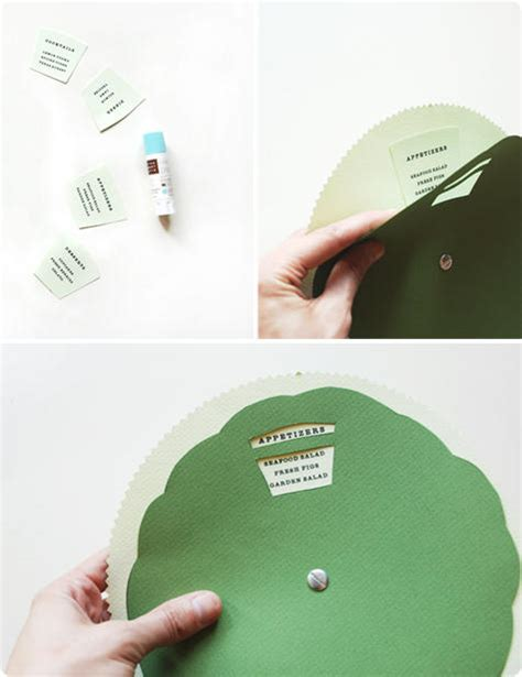 How To Make A Paper Wheel That Spins - diy wedding menu wheel design sponge