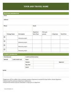 tour and travel booking form freewordtemplates net
