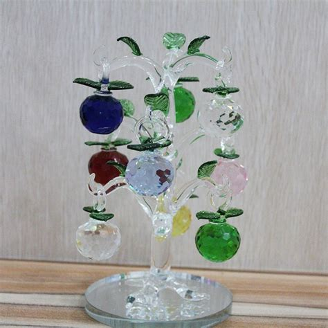 crystal home decor wholesale wholesale cheap price crystal apple tree crystal