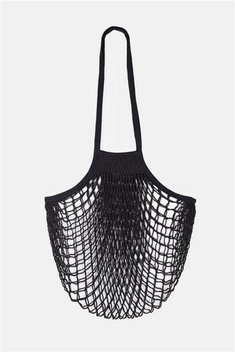 collected by the line filt large net bag black the line