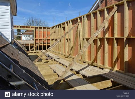 air floor in construction house extension floor joist timber frame panels