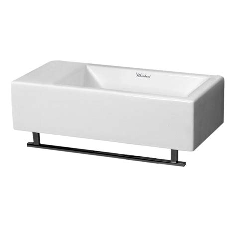 wall mount sink with towel whitehaus collection isabella wall mounted bathroom sink