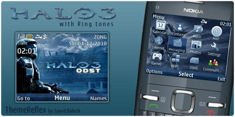themes for mobile c3 halo 3 nokia c3 themes themereflex