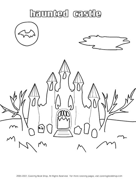 haunted castle coloring page haunted castle coloring pages coloring pages for free