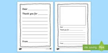 Letter To Template Eyfs Thank You Letter Writing Template Thank You Letter Writing