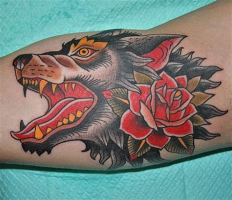 american traditional wolf tattoos collection of 25 traditional wolf print