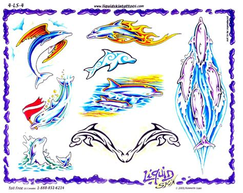 tattoo design ideas free dolphin tattoos