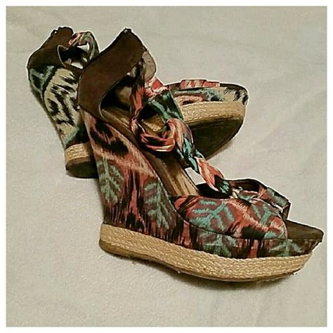 central multi colored wedge sandals from kelli jo s
