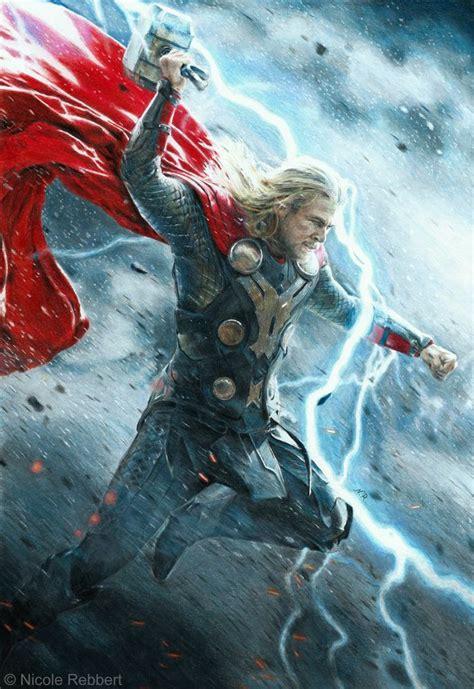 thor movie vs mythology thor god of thunder mixed media by quelchii deviantart