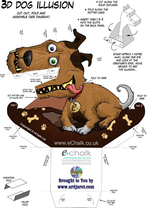 printable optical illusions 3d echalk gruff the dog png 1347 215 1905 optical illusion
