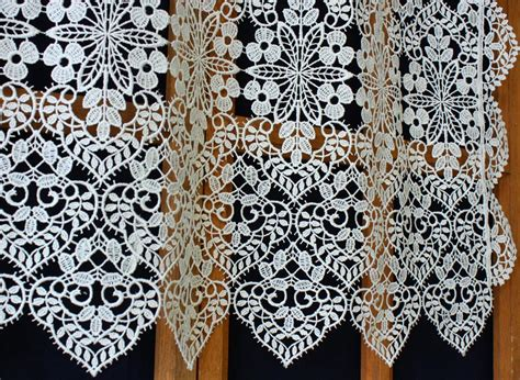 macrame lace curtains french macrame curtain