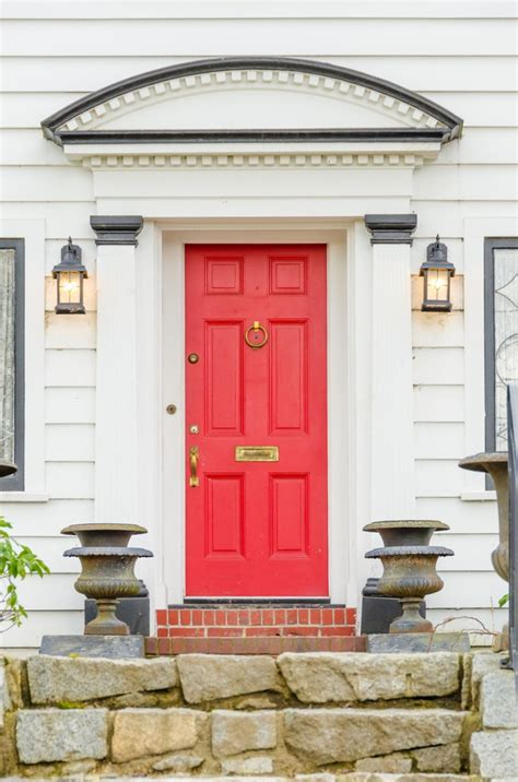 red front door to boost positive energy of your house five front door colors for curb appeal