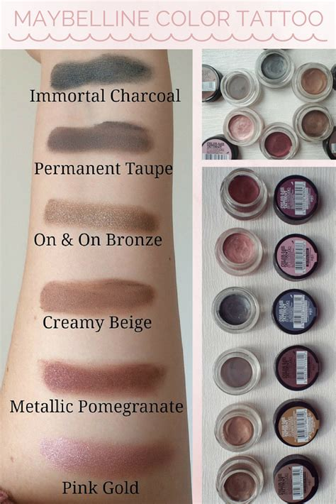 maybelline color review maybelline color eyeshadow review swatches hair